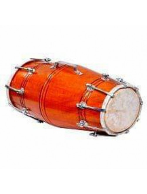 Handmade Musical Instrument Amroha Dholak in Brown Colour